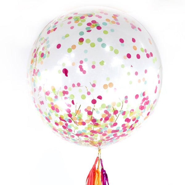 "36"" Tropical Tango Confetti Balloon, Decorative Balloons, Jamboree Party Box, Jamboree"