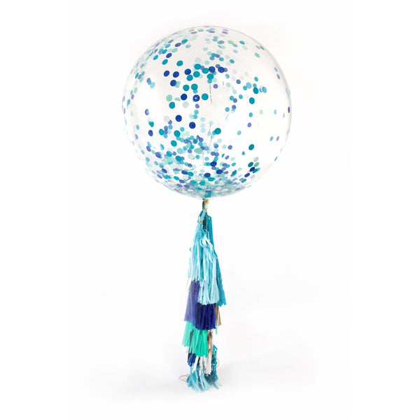 "36"" Under The Sea Confetti Balloon, Decorative Balloons, Jamboree"