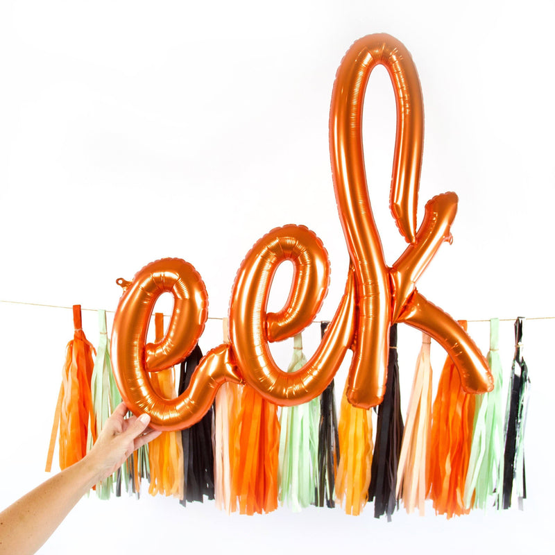 Decorative Balloons - Giant Orange 'Eek' Script Balloon