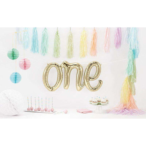 "30"" White Gold 'one' Balloon, , Jamboree"