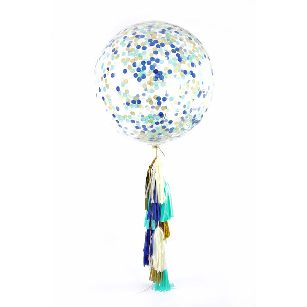 "36"" Coastal Cruiser Confetti Balloon, Decorative Balloons, Jamboree"