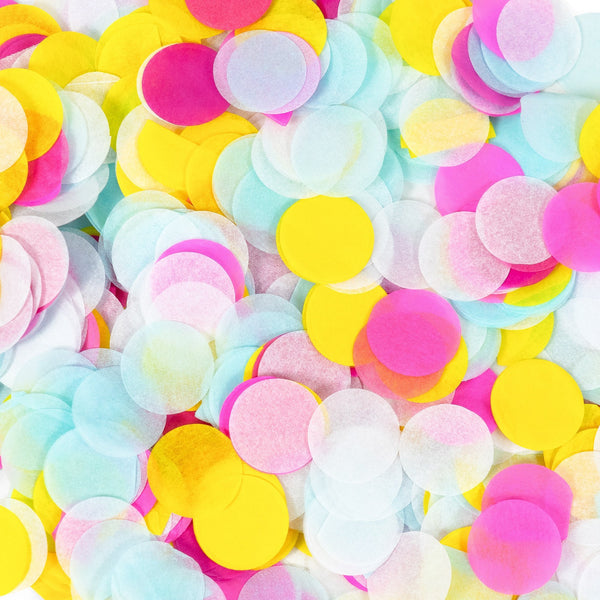 "SHIPS FREE** Confetti Pack - Pink Blue White Yellow Biodegradable 1"" Confetti- ""Disney Princess Squad"" - Table Decor, Baby Shower, Birthday"