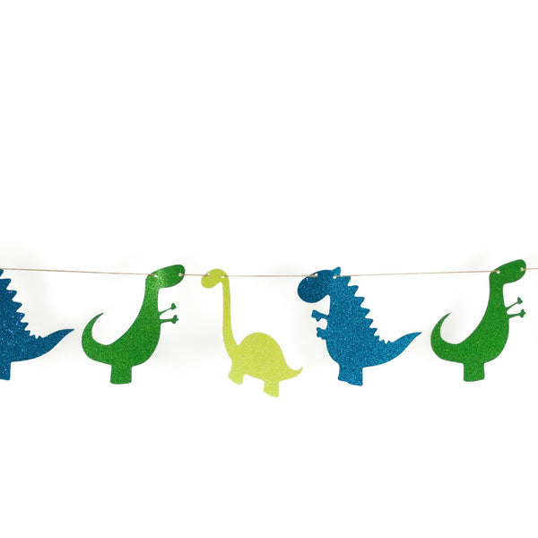 "SHIPS FREE** Dinosaur Banner - Green Navy Teal - ""The Dino"" Boy Birthday Party, Boy Baby Shower, First, Photo Backdrop, Smash Cake Prop"