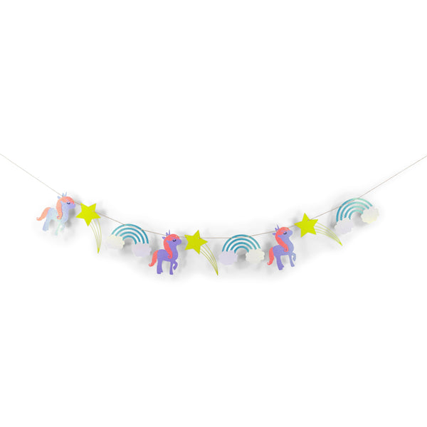 "SHIPS FREE** Unicorn Glitter Banner - Purple Yellow Pink - "" Mythical Tales"" Unicorn Party Decor, Birthday, Baby Shower, Magical, Photo Prop"