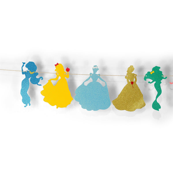 Disney Princess Squad Glitter Banner, Banners & Backdrops, Jamboree