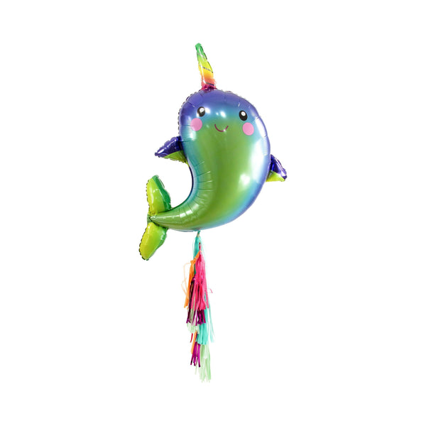 "40"" Narwhal Balloon, Decorative Balloons, Jamboree Party Box, Jamboree"
