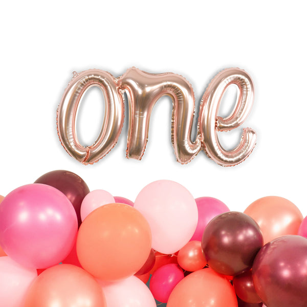 "30"" Rose Gold 'one' Balloon, , Jamboree"