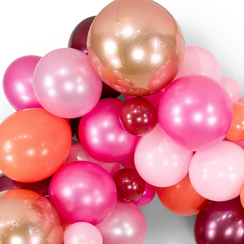 "SHIPS FREE** Giant Balloon Garland Kit - Pink Burgundy Rose Gold Peach Giant Balloon Arch -""Pretty n' Pink"" XL Girl Party Prop, Bridal, Girl"