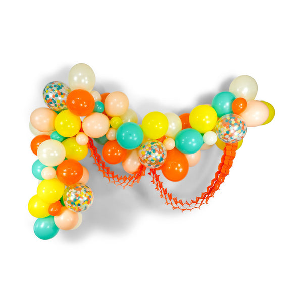 "SHIPS FREE** Giant Balloon Garland Kit - Mint Peach Tangerine Yellow Giant Balloon Arch -""Retro Carousel"" XL Girl Party Prop, Gender Neutral"