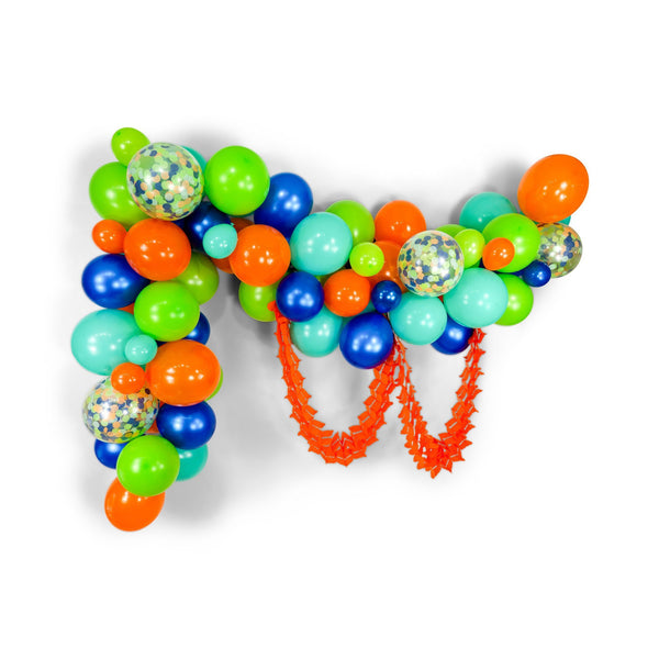 "SHIPS FREE** Giant Balloon Garland Kit - Blue Green Navy Orange Giant Balloon Arch -""The Dino"" XL Boy Party Prop, Its a Boy, Boy Birthday"