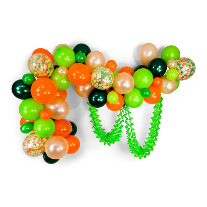 "SHIPS FREE** Balloon Garland Kit - Green Peach Tangerine Giant Balloon Arch -""Viva La Fiesta"" XL Party Prop, Taco Party, Taco Tuesday"