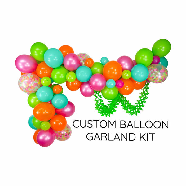 "SHIPS FREE** Balloon Garland Kit - Pink Mint Lime Green Giant Balloon Arch -""Tropical Tango"" XL Party Prop, Baby Shower,Tropical Party Decor"