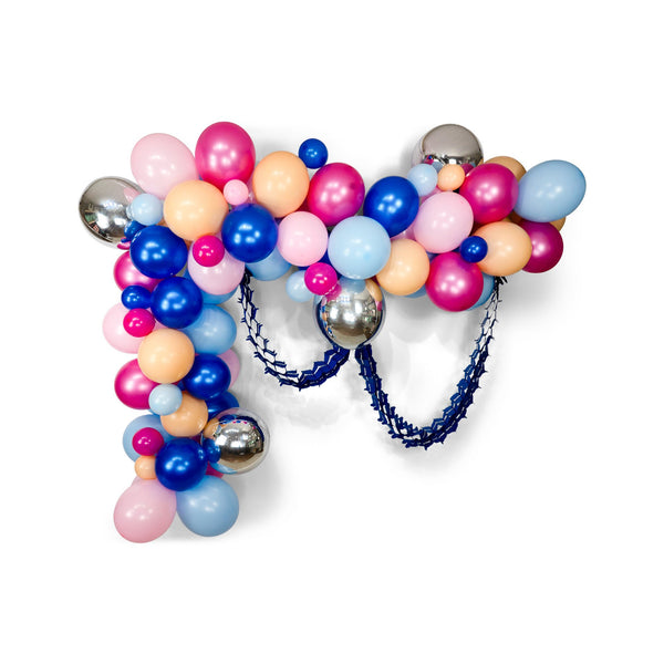 "SHIPS FREE** Giant Balloon Garland Kit - Blue Silver Pink Peach Giant Balloon Arch -""Gender Reveal"" XL Party Prop, Baby Shower Backdrop"