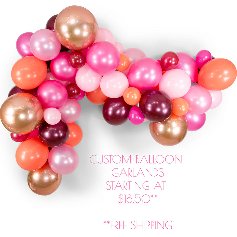 Blushing Peony Mini Balloon Garland Kit, , Jamboree