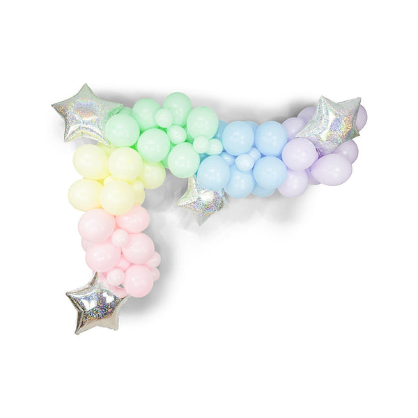 "Giant Balloon Garland Kit - Pink Mint Blue Yellow Purple Pastel Balloon Arch -""Pixie Stick"" XL Party Prop, Pastel Party Decor"