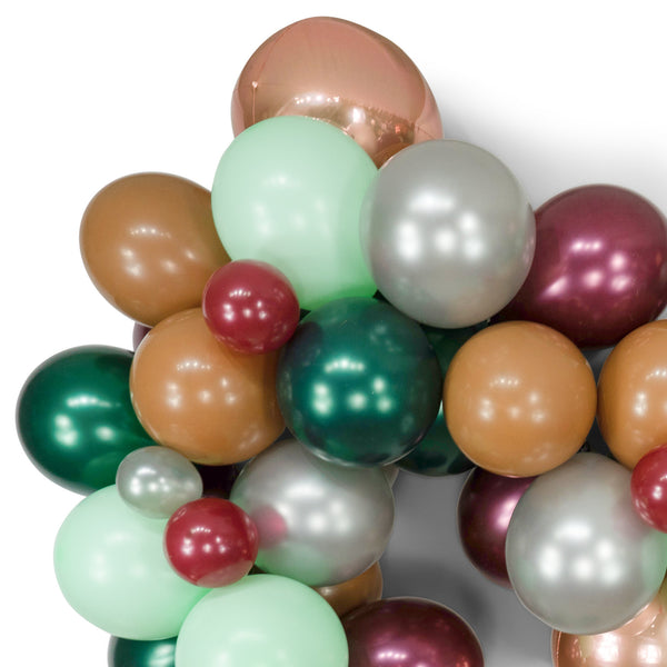 "SHIPS FREE** Giant Balloon Garland Kit - Burgundy Green Grey Mint Rose Gold Giant Balloon Arch -""Enchanted Forest"" XL Party Prop, Backdrop"