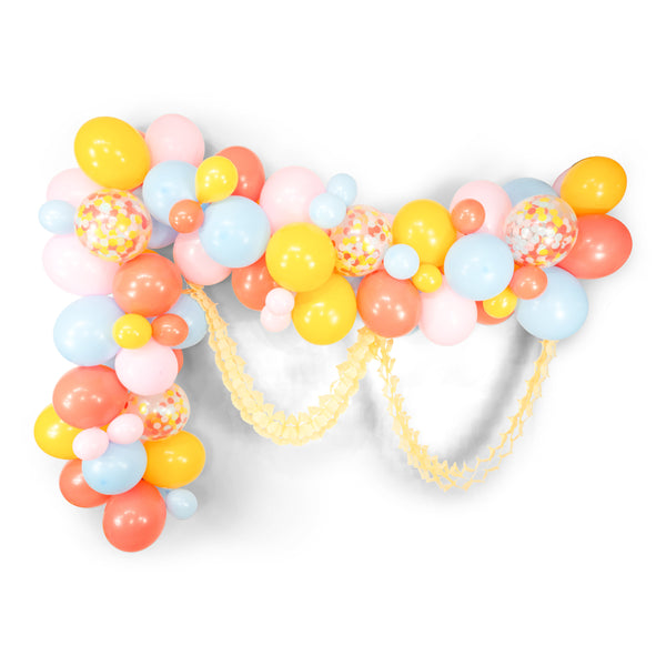 "Giant Balloon Garland Kit - Pastel Pink Coral Mustard Blue  Giant Balloon Arch - ""Spring Fling"" XL Party Prop, Pastel Balloons"