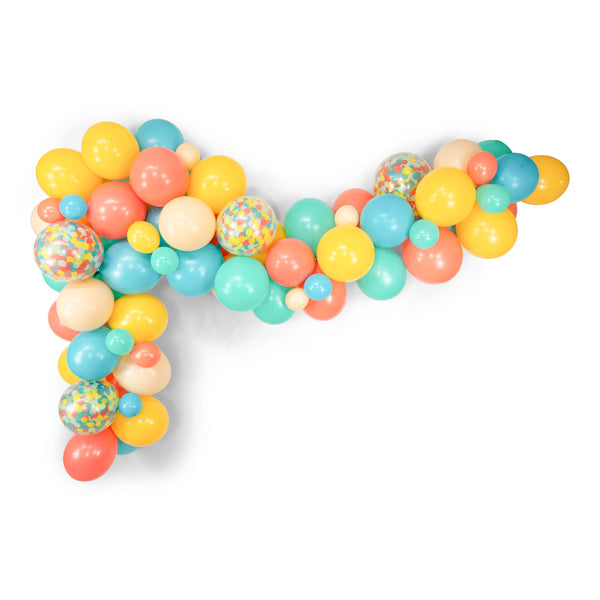 "Giant Balloon Garland Kit - Peach Mint Teal Coral Mustard Giant Balloon Arch - ""Vintage Summer"" XL Party Prop, Vintage Balloons"