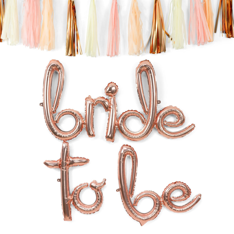 Giant 'Bride to Be' Script Balloons, , Jamboree