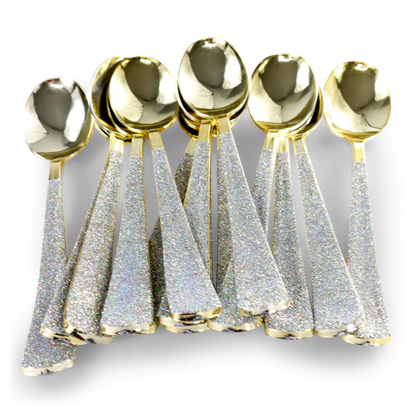 Holographic Glittered Gold Spoon, , Jamboree