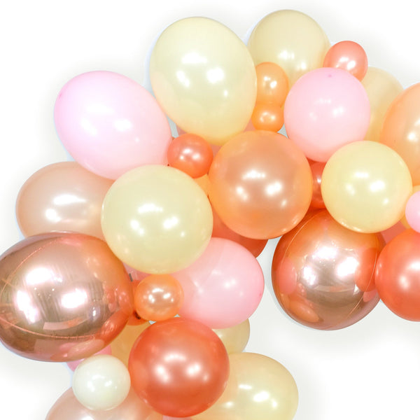 "Giant Balloon Garland Kit - Pink Rose Gold Peach  CreamGiant Balloon Arch -""Blushing Peony"" XL Girl Party Prop, Bridal, Wedding, , Jamboree"