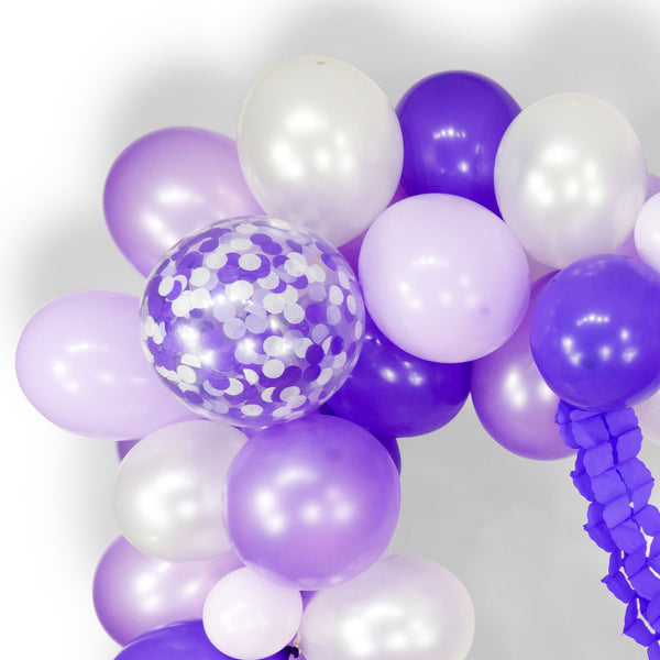 "Balloon Garland Kit - Purple Lavender White Giant Balloon Arch -""Sugar Plum"" XL Party Prop, Its a Girl, Baby Shower, Backdrop, , Jamboree Party Box, Jamboree"