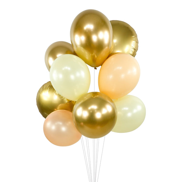 "Balloon Cluster - White Gold Peach Cream Giant Balloons- ""Champagne Kisses"" XL Party Prop, Bridal Shower, Wedding Centerpiece, Anniversary, , Jamboree Party Box, Jamboree"