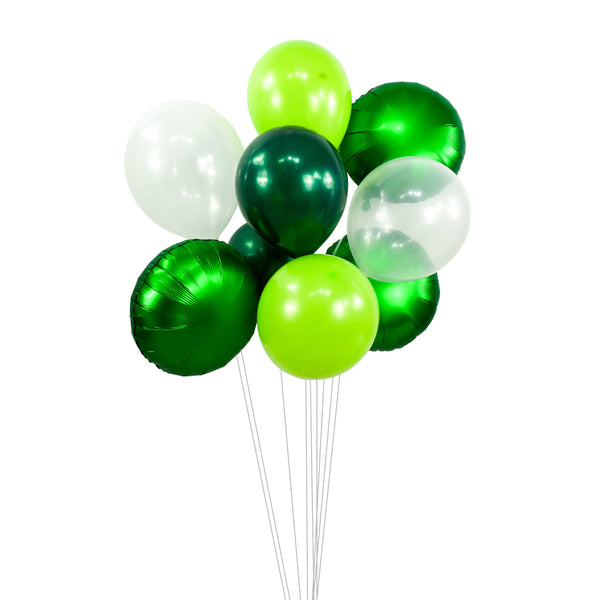 Balloon Cluster - Green White Lime Forest Giant Balloons-  Green Theme, XL Party Prop, Boy Baby Shower, Wedding Table Decor, Woodland, , Jamboree Party Box, Jamboree