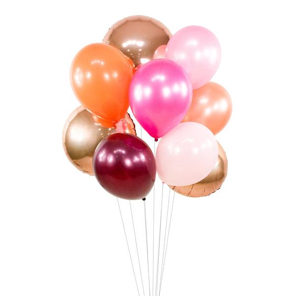 "Balloon Cluster - Rose Gold Burgundy Pink Coral Giant Balloons- ""Pretty n' Pink"" XL Party Prop, Bridal Shower, Its A Girl Decor, Engagement, , Jamboree Party Box, Jamboree"