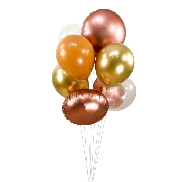 "Balloon Cluster - Rose Gold Champagne Giant Balloons- ""Caramel Macchiato "" XL Party Prop, Bridal Shower, Wedding Table Decor, Engagement, , Jamboree Party Box, Jamboree"