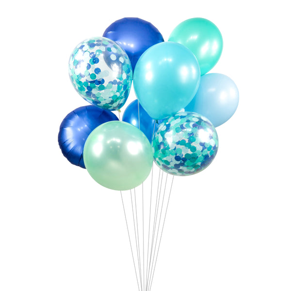 "Balloon Cluster - Navy Mint Teal Giant Balloons- ""Under the Sea"" XL Party Prop, Boy Baby Shower, Wedding Table, Smash Cake Prop, Ocean Theme, , Jamboree Party Box, Jamboree"