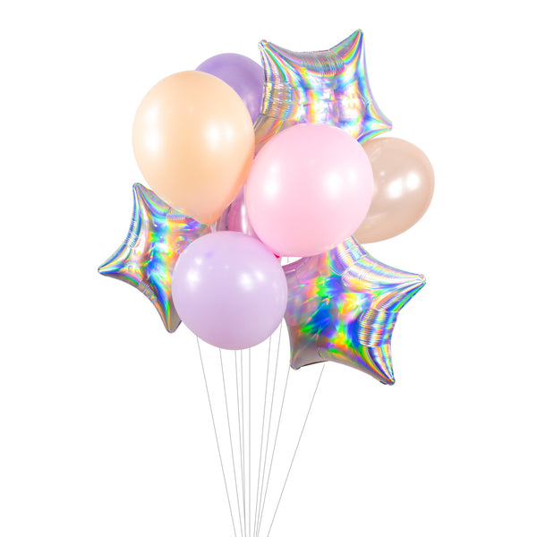 "Balloon Cluster -  Pink Lavender Peach Giant Balloons-""Lilac Dream"" XL Party Prop, Bridal/Baby Shower, Pastel Birthday, Girl Smash Cake Prop, , Jamboree Party Box, Jamboree"