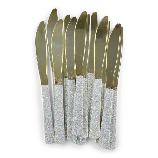 Holographic Glittered Gold Knife, , Jamboree