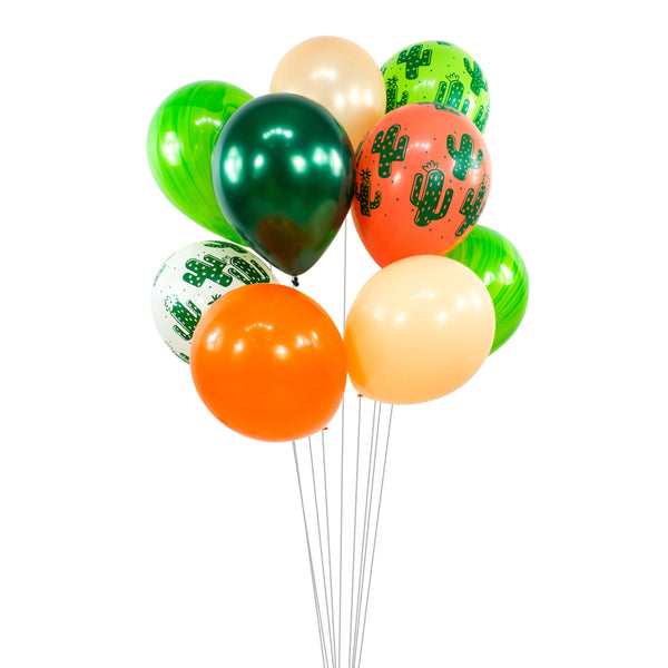 "Balloon Cluster - Lime Green Peach Orange Giant Balloons- ""Viva L Fiesta"" XL Party Prop, Taco Party, Cactus Theme, Fiesta Decor, Summer, , Jamboree Party Box, Jamboree"