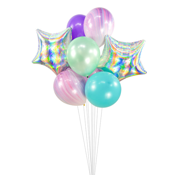 "Balloon Cluster - Purple Teal Mint Lavender  Giant Balloons- ""Mermaid Tales"" XL Party Prop, Mermaid Theme Birthday, Fairytale Shower, Disney, , Jamboree Party Box, Jamboree"
