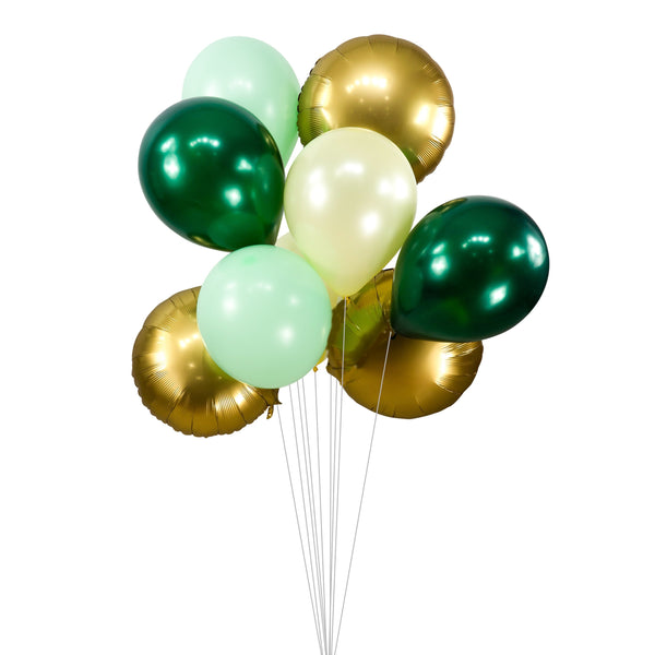 "Balloon Cluster - Green Cream Gold Pistachio Giant Balloons-  ""Forest Fancy"", XL Party Prop, Boy Baby Shower, It's a Boy, Wild One, Woodland, , Jamboree Party Box, Jamboree"