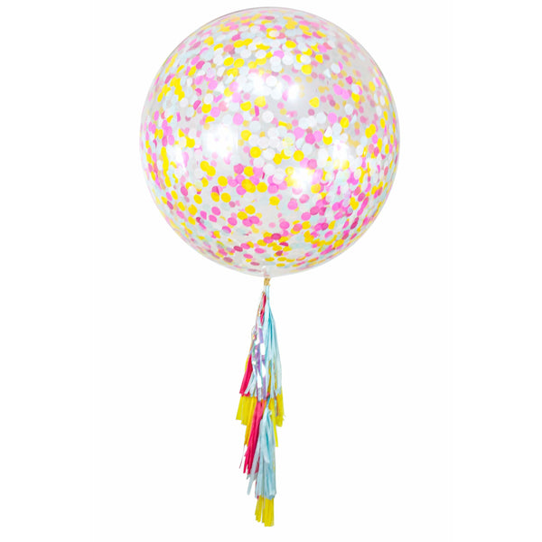 "36"" Disney Princess Squad Confetti Balloon, Decorative Balloons, Jamboree"