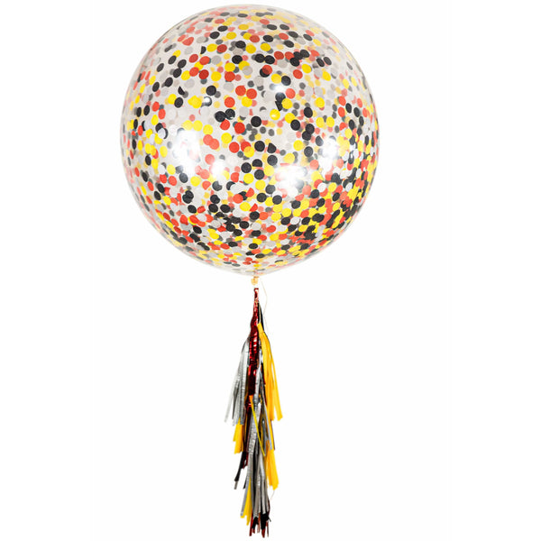 "36"" Firetruck Confetti Balloon, Decorative Balloons, Jamboree"