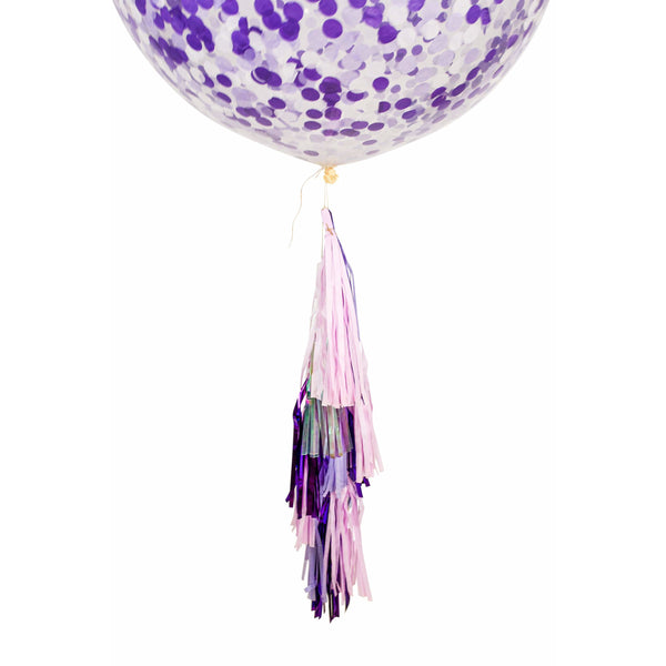 "36"" Sugar Plum Confetti Balloon, Decorative Balloons, Jamboree"