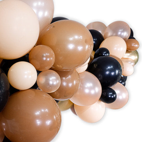 Caramel Macchiato Balloon Garland Kit, , Jamboree