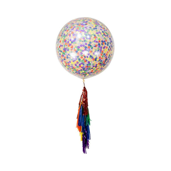 "36"" Rainbow Confetti Balloon, , Jamboree"