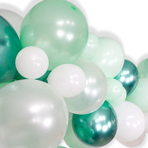 "Giant Balloon Garland Kit - Mint Green White Giant Balloon Arch -""Frosted Mint"" XL Photo Backdrop, Holiday Balloon Arch Decor, Winter"
