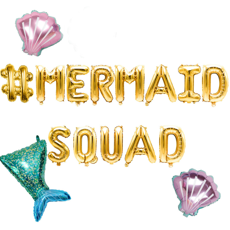 #Mermaid Squad Balloon Banner, , Jamboree