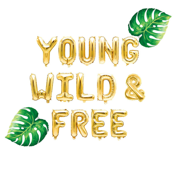 Young Wild & Free Balloon Banner, , Jamboree