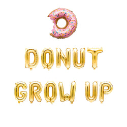 Donut Grow Up with Donut Balloon Banner, , Jamboree