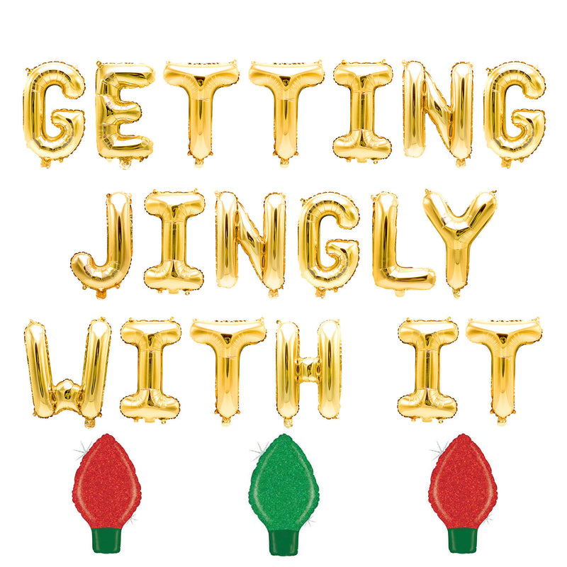 Getting Jingly With It Balloon Banner, , Jamboree