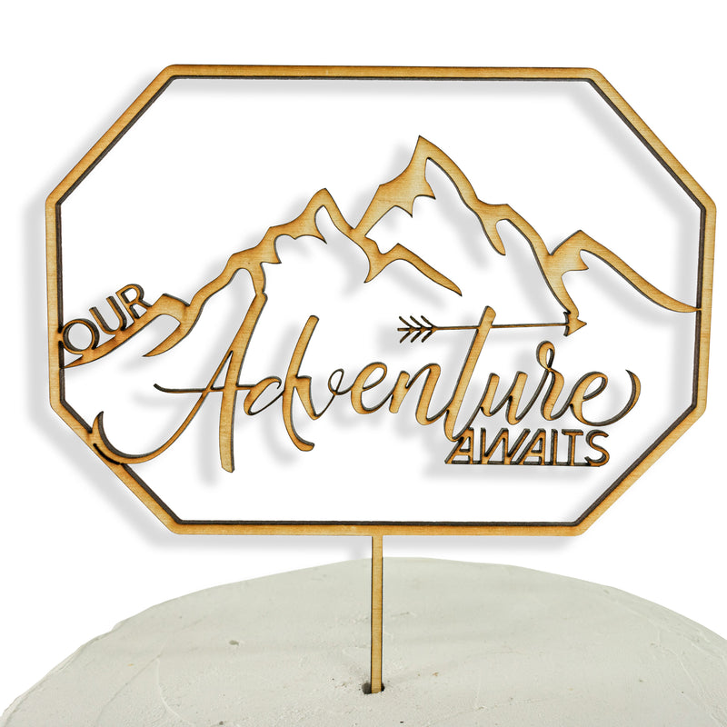 Our Adventure Awaits Wood Cake Topper, , Jamboree