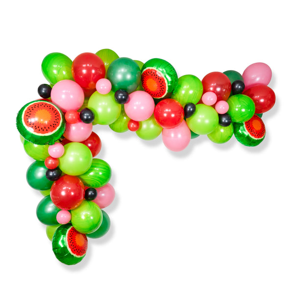 "Giant Balloon Garland Kit - Red Green Pink Black Giant Balloons -""Watermelon"" XL Party Prop, Summer Baby Shower Balloon Arch Smash Cake Prop"