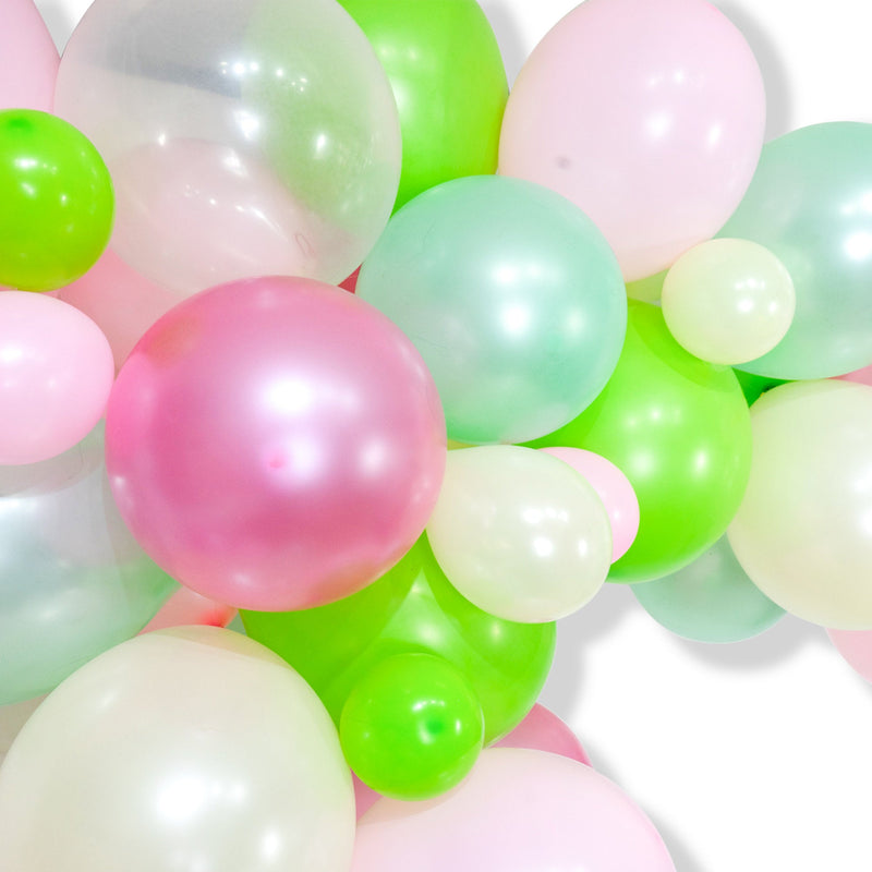 "Giant Balloon Garland Kit - Pink Lime Mint Cream Giant Balloon Arch - ""Succulent"" XL Girl Party Prop, Cactus, Plant Theme"