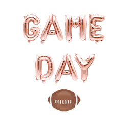 "Rose Gold ""Game Day"" Balloon Banner - 16"" Letter Balloons - Rose Gold - Sports, Football Balloon, Game Day Party, Super Bowl, Homecoming, , Jamboree"